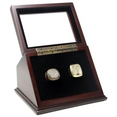NHL 1986 1993 Montreal Canadiens Stanley Cup Championship Replica Fan Rings with Wooden Display Case Set
